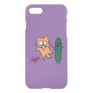 Cucumber Scaring Cats - Cat versus Cucumber Scare iPhone 8/7 Case