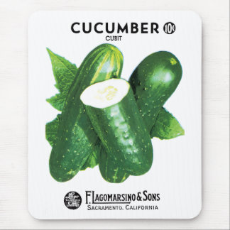 Cucumber Seed Packet Label Mouse Pad