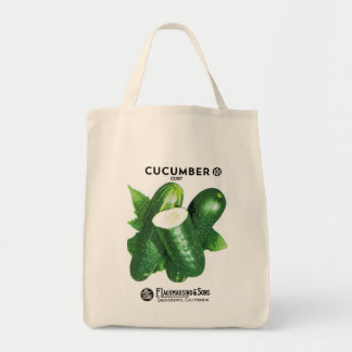 Cucumber Seed Packet Label Tote Bag