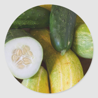 Cucumber Seeds Classic Round Sticker