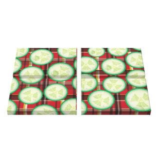 Cucumber Slice Canvas Print