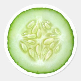 Cucumber slice classic round sticker