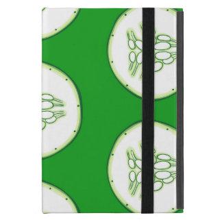 Cucumber slices pattern iPad mini cover