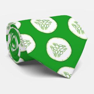 Cucumber slices pattern neck tie