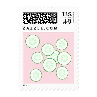 Cucumber slices. postage