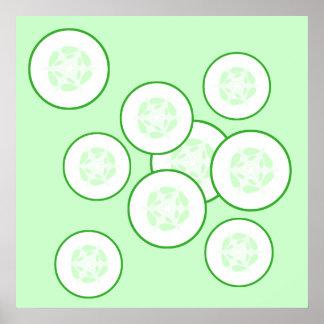 Cucumber slices. poster