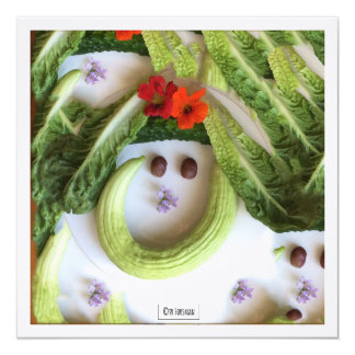 """Cucumber smile"" garden collage by TR Forsman Card"