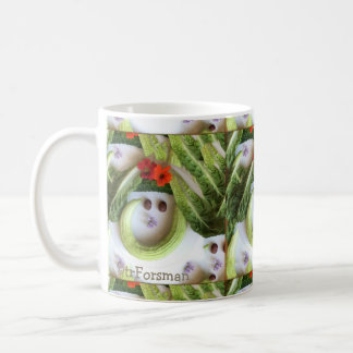 """Cucumber smile"" v2 garden collage by TR Forsman Coffee Mug"