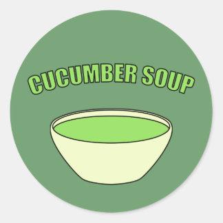 Cucumber Soup Classic Round Sticker