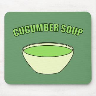 Cucumber Soup Mouse Pads