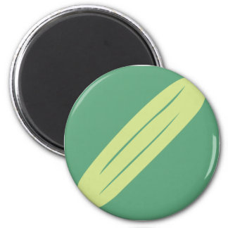 Cucumber Vegetable Icon 2 Inch Round Magnet