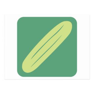 Cucumber Vegetable Icon Postcard