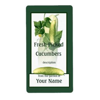 Cucumbers Art Farmer Gardener Label