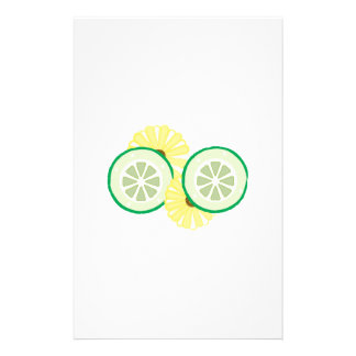 Cucumbers & Flowers Personalized Stationery