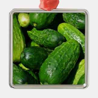cucumbers pile metal ornament