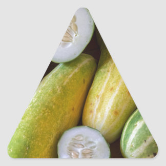 Cucumbers Triangle Sticker