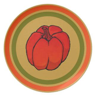 Cucurbitaceae Pumpkin rings Dinner Plates