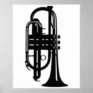 Cucurucho del instrumento musical - músicos poster