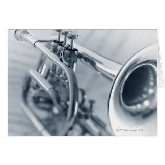 Cucurucho en las hojas de música tarjetas
