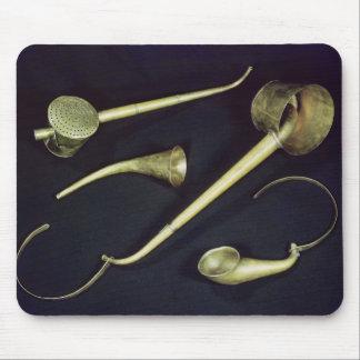 Cucuruchos acústicos de los instrumentos tapete de ratón