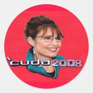 'Cuda 2008 Button Classic Round Sticker