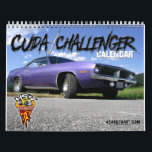 "Cuda / Challenger Calendar<br><div class=""desc"">12 months of Plymouth Cuda&#39;s and Dodge Challenger&#39;s. From the muscle car days of the early 1970&#39;s to the new Challengers that roam the streets today. These vintage automobiles will be a gift that last the whole year!!</div>"