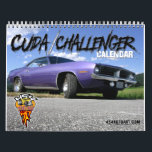 """Cuda / Challenger Calendar<br><div class=""""desc"""">12 months of Plymouth Cuda&#39;s and Dodge Challenger&#39;s. From the muscle car days of the early 1970&#39;s to the new Challengers that roam the streets today. These vintage automobiles will be a gift that last the whole year!!</div>"""