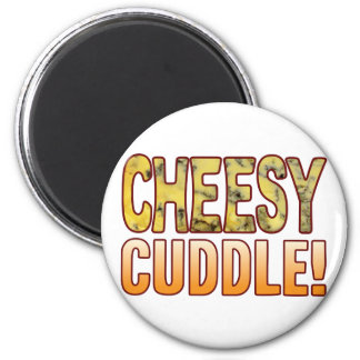 Cuddle Blue Cheesy 2 Inch Round Magnet