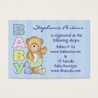 Cuddle Brown Baby Bear Registry Cards
