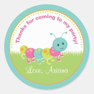 Cuddle Bug Birthday Party Favor Tag Sticker