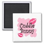 cuddle bunny fridge magnet