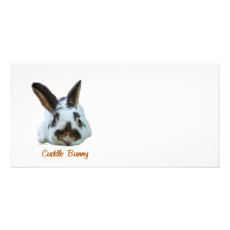Cuddle Bunny Photo Card Template