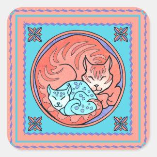 """Cuddle Cats"" Sticker"