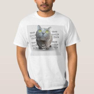 Cuddle Conforting Custom Pet Photo Template Tee Shirts