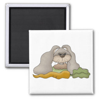 Cuddle Hoppers • Bunny with Carrot Magnet