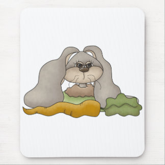 Cuddle Hoppers • Bunny with Carrot Mouse Pad