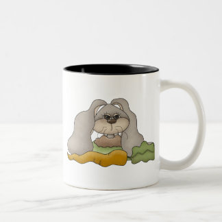 Cuddle Hoppers • Bunny with Carrot Two-Tone Coffee Mug