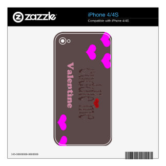 Cuddle me w/ hearts iPhone 4 decal