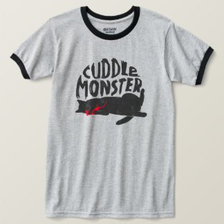 """""""Cuddle Monster"""" Faded Cat Tee"""