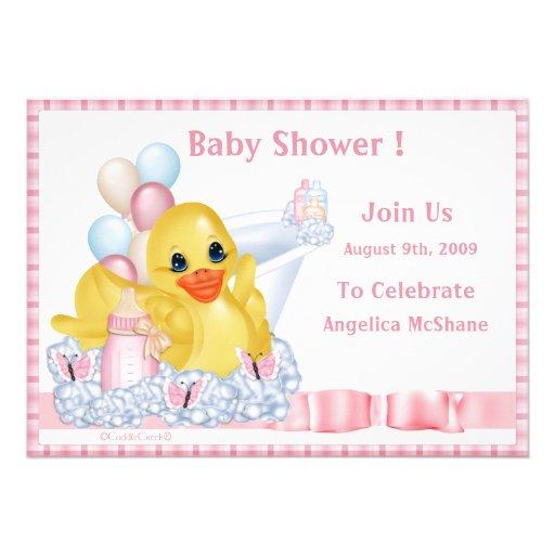 CuddleCreek® BathTimeDuck Shower Invitation
