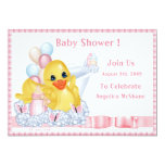 "CuddleCreek® BathTimeDuck Shower Invitation 5"" X 7"" Invitation Card"