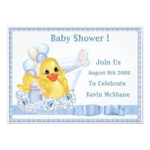 "CuddleCreek® BathtubDucky Invitation 5"" X 7"" Invitation Card"