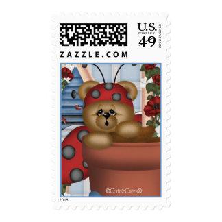 CuddleCreek® Ladybear Gardening Stamp