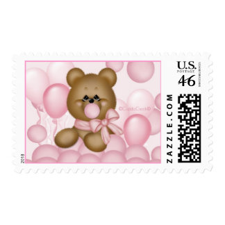 CuddleCreek® Pink BubbleGum Bear Stamp