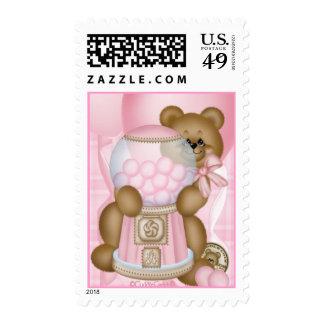 CuddleCreek® PinkBubbleGum Postage Stamp