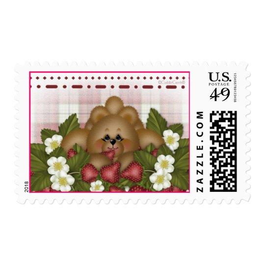 CuddleCreek® Strawberry Postage Stamp