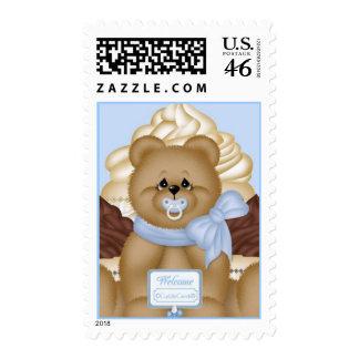 CuddleCreek® Teddie Cupcake Postage Stamp
