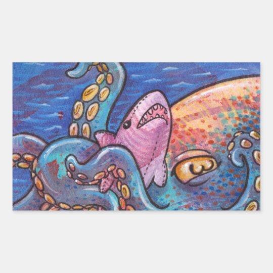 Cuddlepus Rectangular Sticker