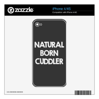 Cuddler llevado natural iPhone 4 skin