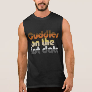 Cuddles on the first Date Bear Stripes Sleeveless Shirts